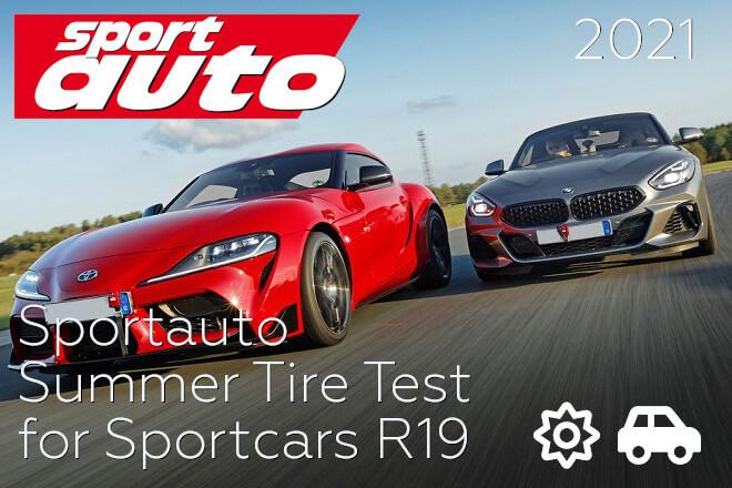 Sportauto: Summer Tire Test for Sportcars R19