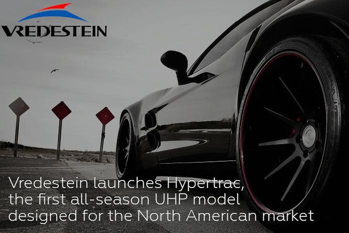 Vredestein launches Hypertrac, the first all-season UHP model designed for the North American market