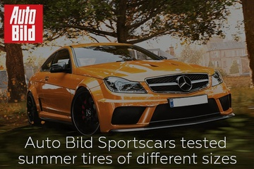 Auto Bild Sportscars tested summer tires of different sizes