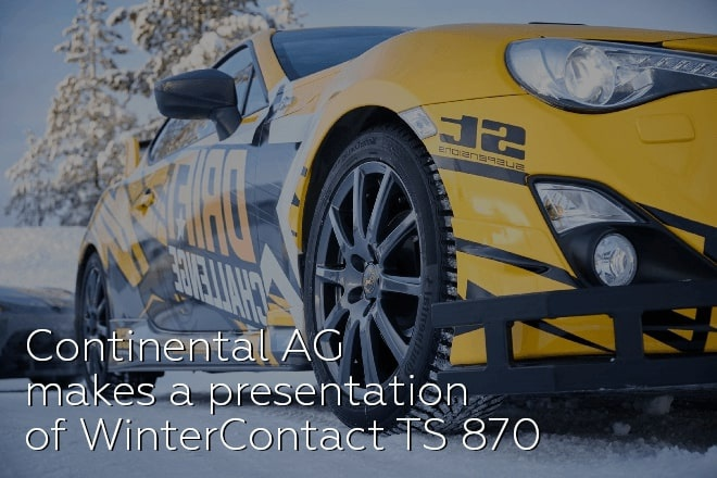 Continental AG makes a presentation of WinterContact TS 870