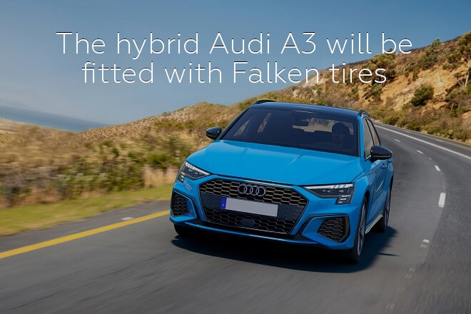 The hybrid Audi A3 will be fitted with Falken tires