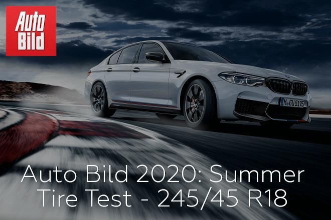 Auto Bild 2020: Summer Tire Test - 245/45 R18