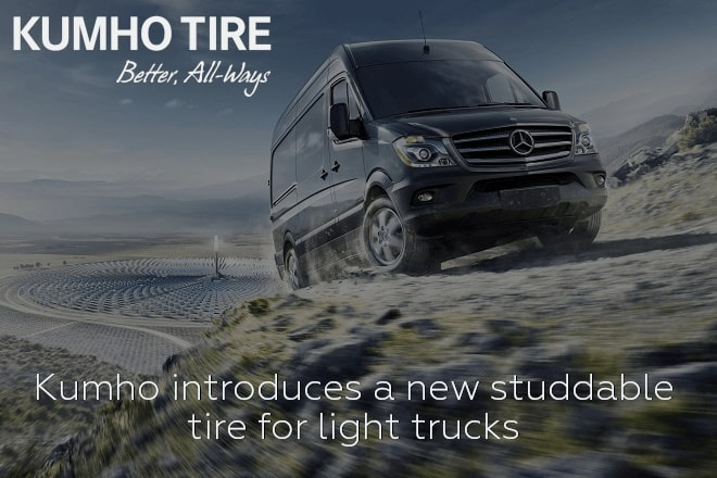 Kumho introduces a new studdable tire for light trucks
