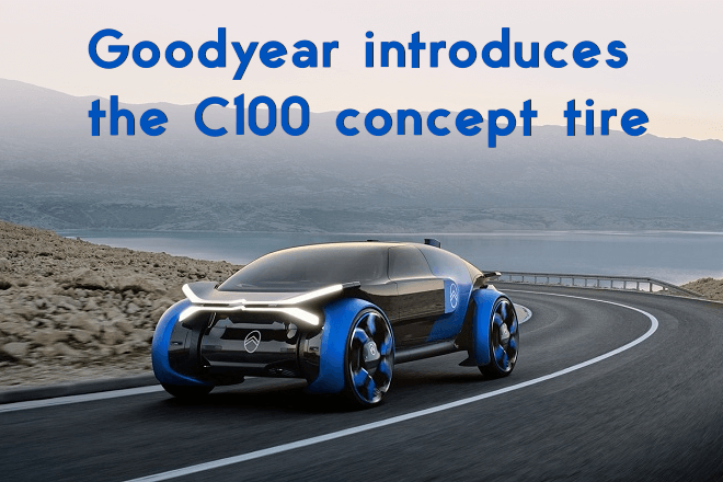 Goodyear introduces the C100 concept tire designed exclusively for the Citroën 19_19 Concept vehicle.