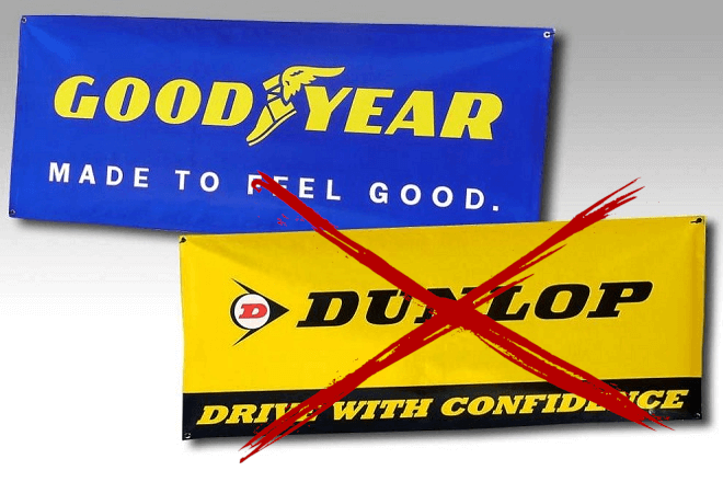 "Goodyear Dunlop drops ""Dunlop"" in the names of its European branches"