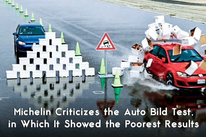 Michelin Criticizes the Auto Bild Test, in Which It Showed the Poorest Results