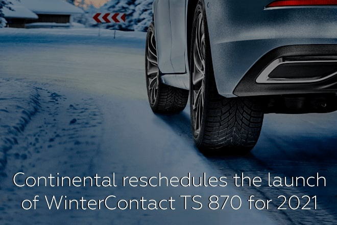 Continental reschedules the launch of WinterContact TS 870 for 2021