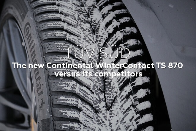 TÜV SÜD: the new Continental WinterContact TS 870 versus its competitors