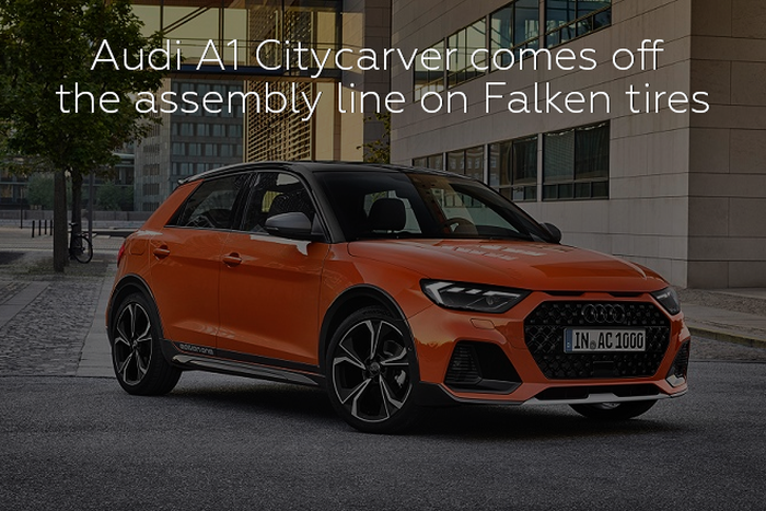 Audi A1 Citycarver comes off the assembly line on Falken tires