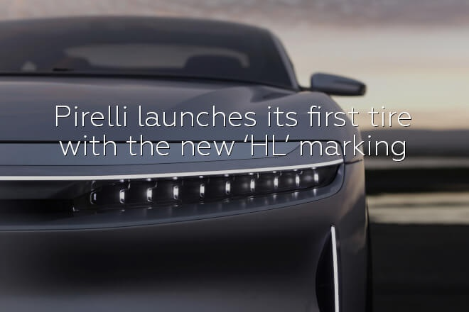 Pirelli launches its first tire with the new 'HL' marking