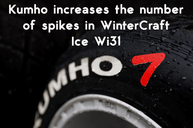 Kumho increases the number of spikes in WinterCraft Ice Wi31