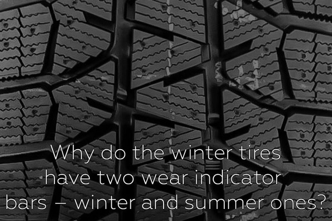Why do the winter tires have two wear indicator bars – winter and summer ones?