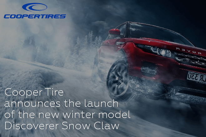 Cooper Tire announces the launch of the new winter model Discoverer Snow Claw