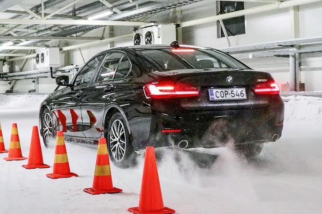 Test discipline: snow braking.