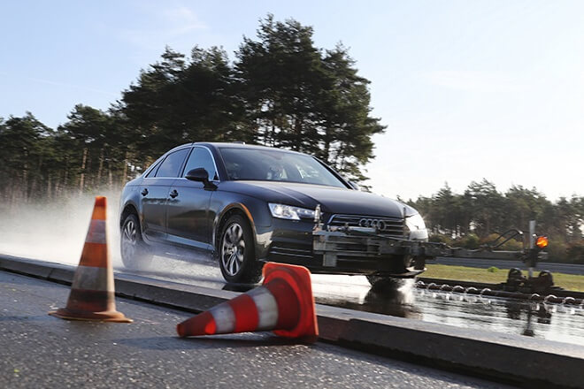 Test discipline: wet braking.