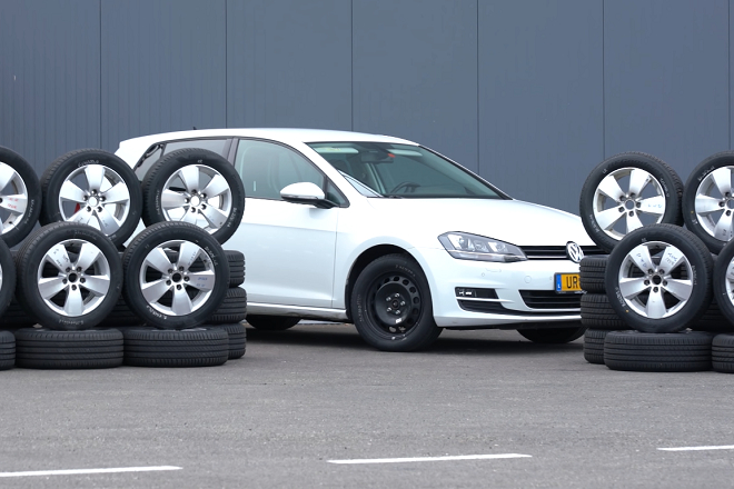 VW Golf and tested tires