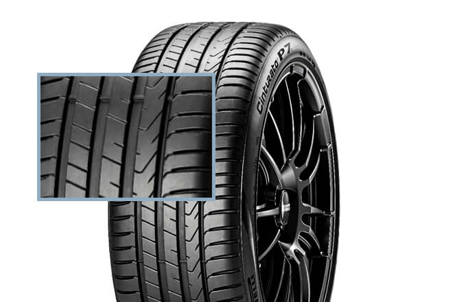 The tread design of Pirelli Cinturato P7C2