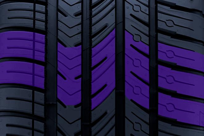 Asymmetrical Tread Design