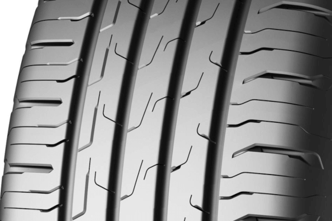Tread pattern Continental Eco Contact 6 close-up