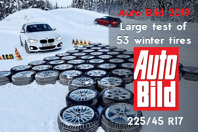Auto Bild 2019: Large test of 53 winter tires in size 225/45 R17 (qualification round)