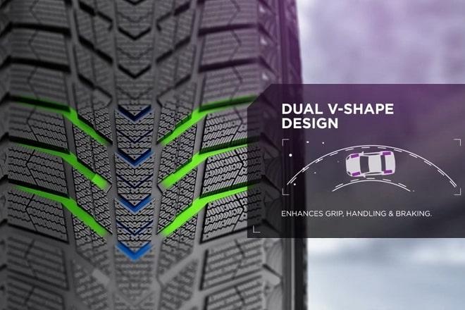 Dual V-Shape Design
