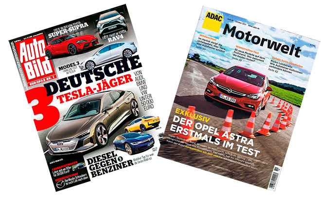 Auto Bild and ADAC magazines