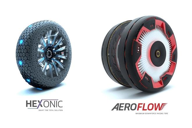 Concept tires Hankook Aeroflow and Hexonic
