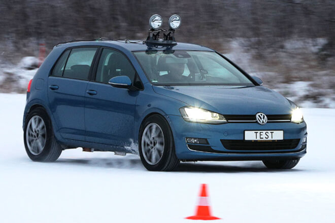The ADAC test vehicle was a VW Golf