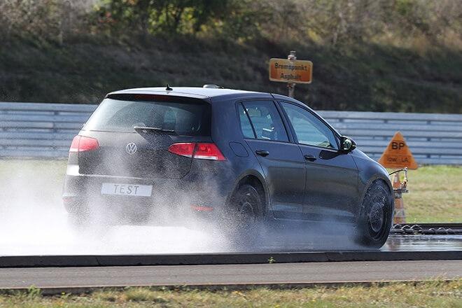 Test discipline: wet braking