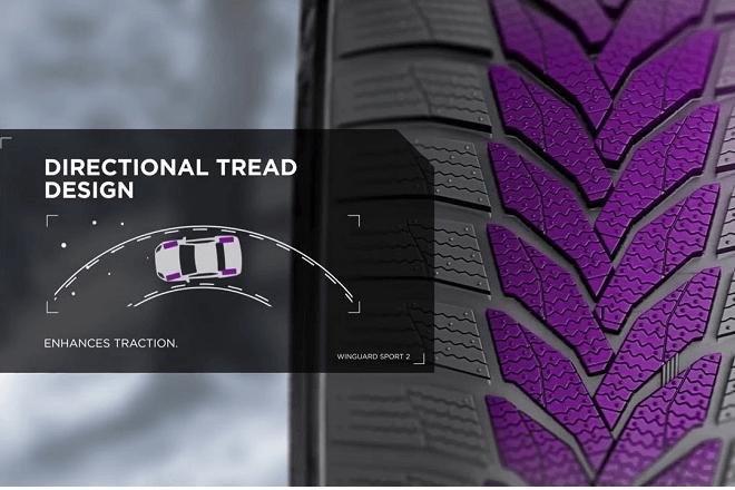 Directional tread design