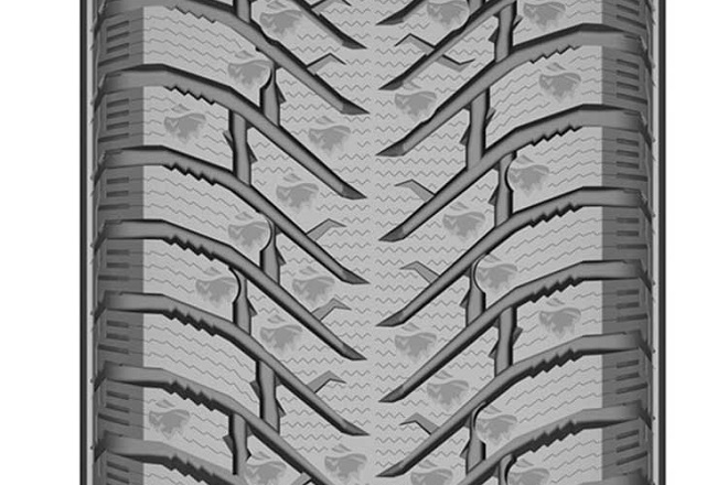 The Green-Max Winter Grip 2 tread pattern