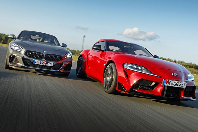 The tires were tested using Toyota Supra and BMW Z4.