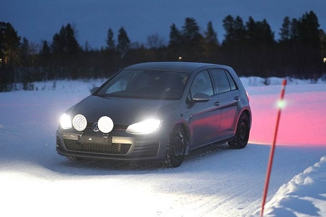 The tests on snow were carried out in Ivalo, Finland