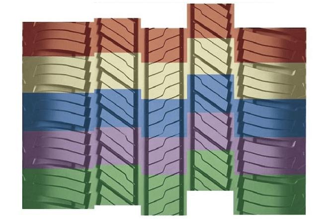 Five-step tread design