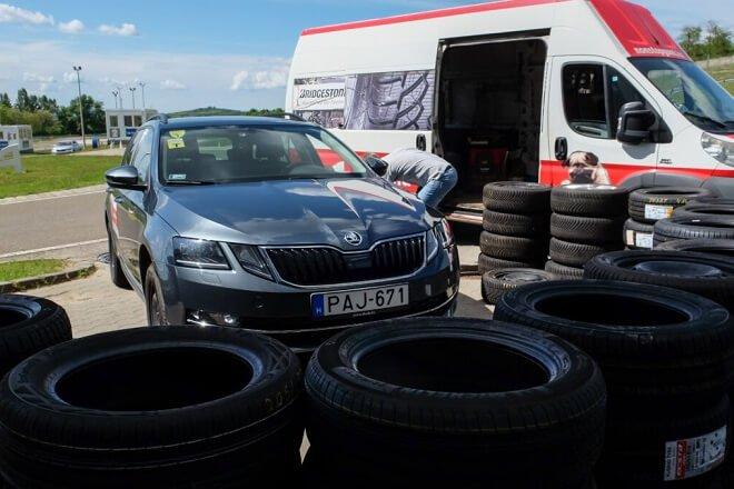 The tires were tested using two Skoda Octavia.Source: autonavigator.hu