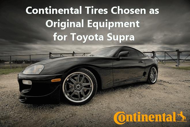 Continental Tires Chosen as Original Equipment for Toyota Supra