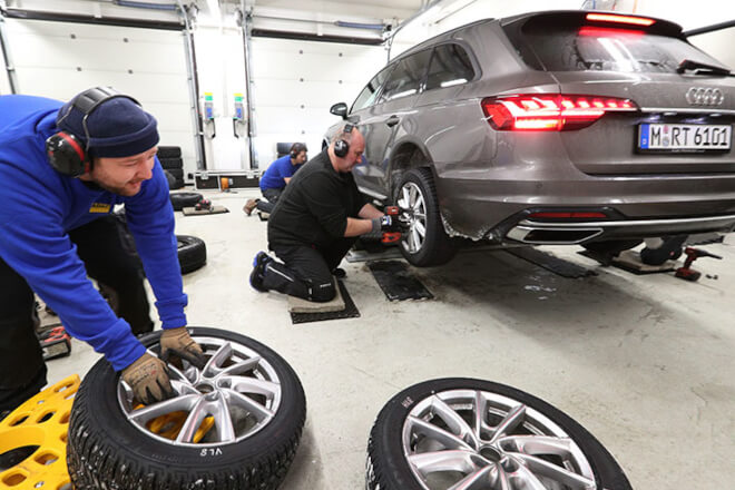 The tires were tested using Audi A4.